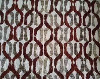 Scout Stripe Mist by Fabricut Velvet Seaglass Mist Beige Stripe Fabric Upholstery Remnant