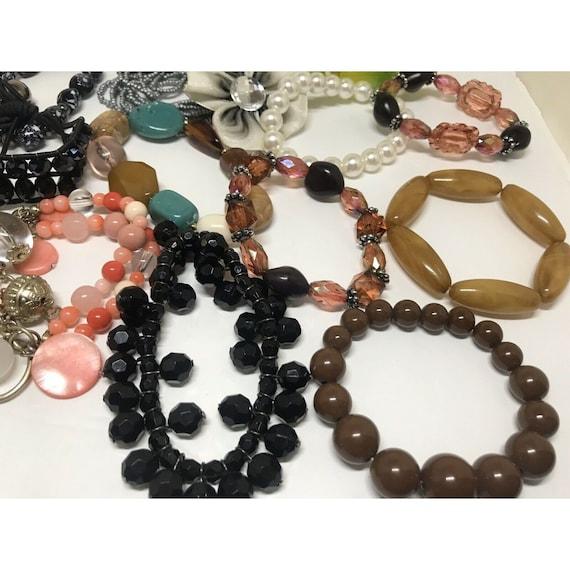 Stretchable Beaded Bracelet Costume Jewelry Mix L… - image 7
