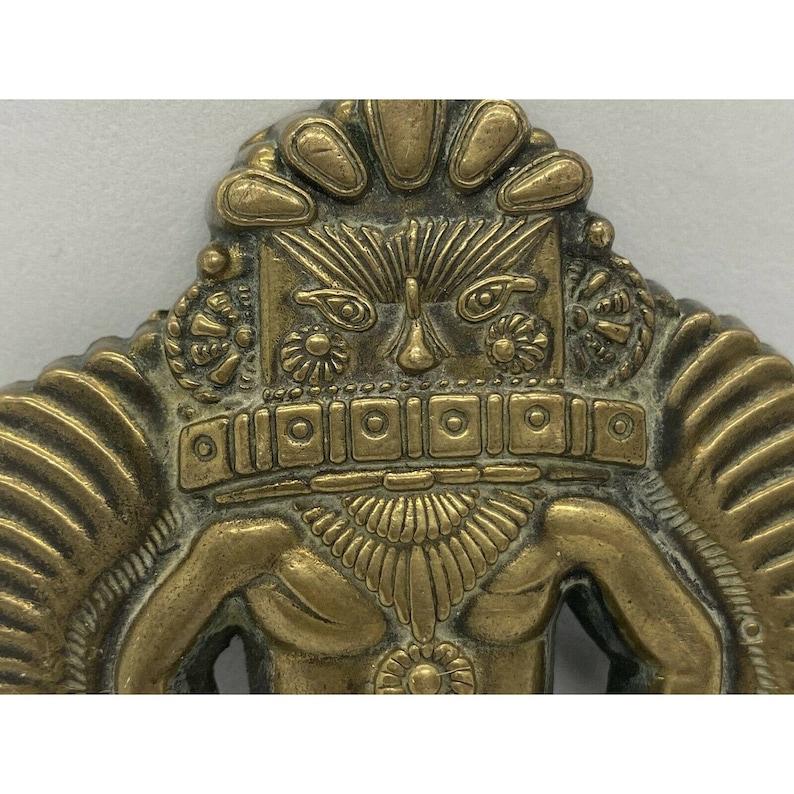 Vintage Kachina Dancer Solid Brass Belt Buckle