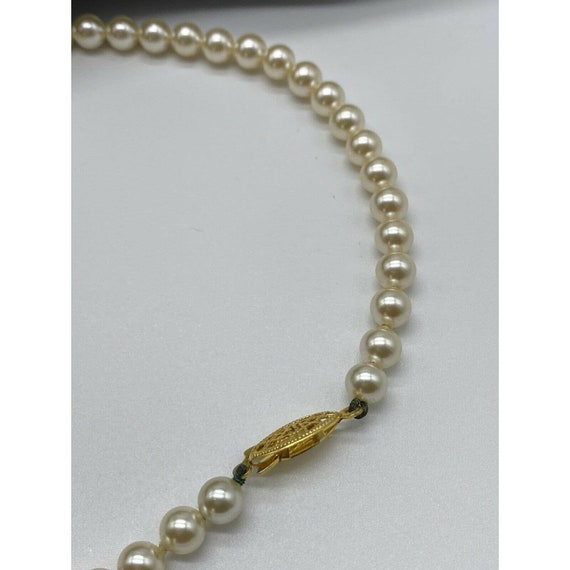 """Vintage Faux Pearl Gold Plated Necklace ~15"""" Long~ - image 9"""
