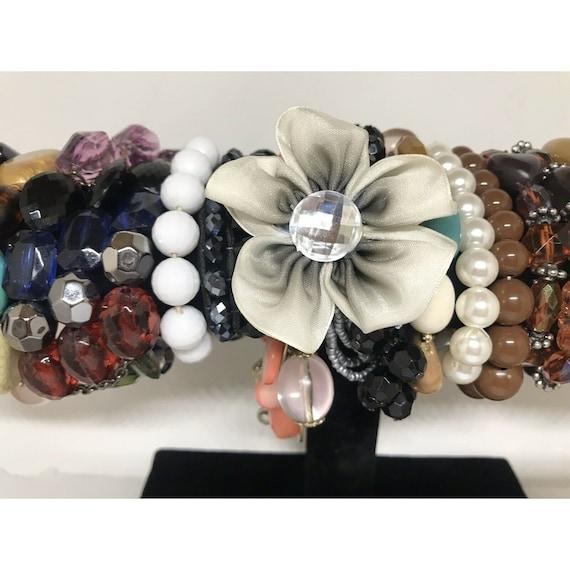 Stretchable Beaded Bracelet Costume Jewelry Mix L… - image 6