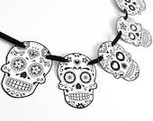 Sugar Skull Halloween Party Banner, Garland, Bunting, Dia de los Muertos, Mexican skull - INSTANT DOWNLOAD, DIY