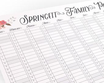 family planner etsy