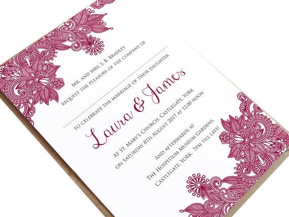 Henna Wedding Invitation Indian Wedding Mehandi Paisley Wedding Invitation Henna Invite Hindi Wedding Sample