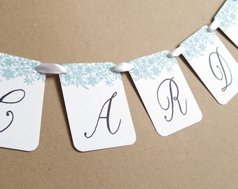 Lace Wedding Cards Banner, Garland, Bunting, Flags, Wedding Sign, Wedding Bunting, Elegant Wedding, Wedding Post Box, Rustic