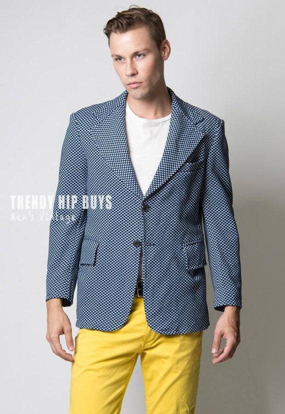 Men's Jacket, Men's Blazer, Men's 70s jacket, Vint