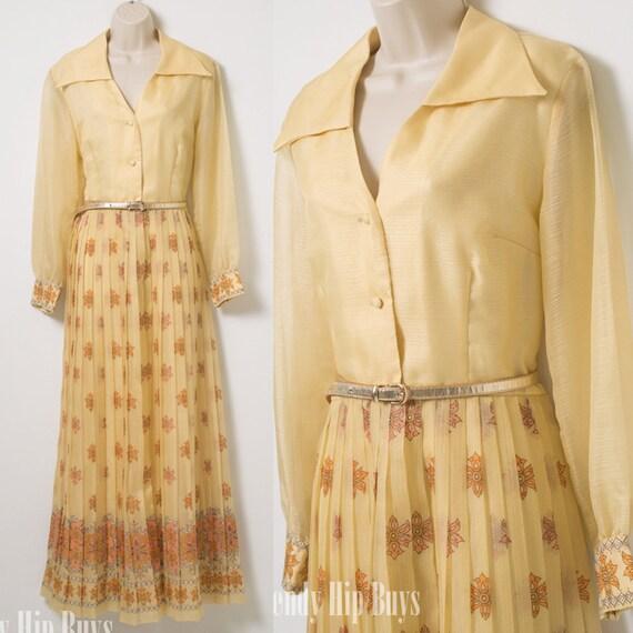 Maxikleid vintage 70er