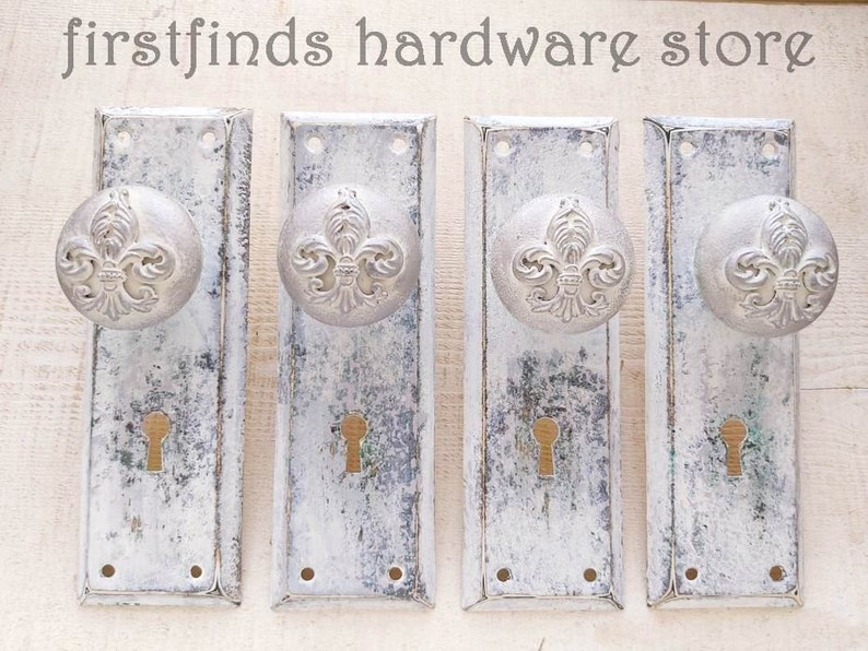 Unique Cabinet Door Pulls Shabby Chic Farmhouse Grey Pantry image 0