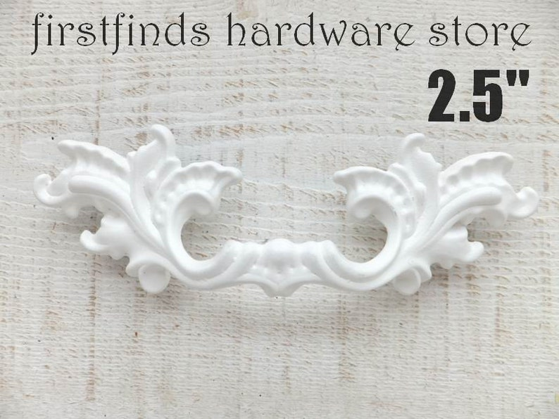 SETS OF 2 French Provincial Solid White Handle Shabby Chic image 0