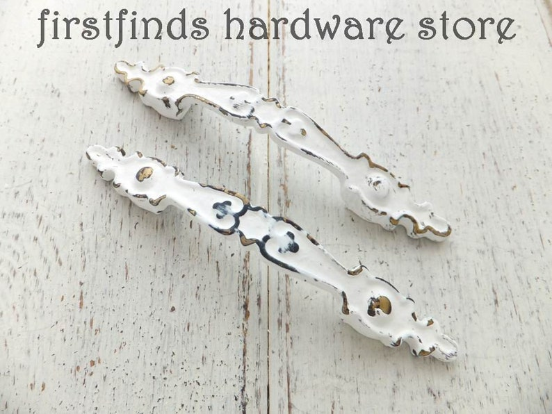 SET OF 6 Limited Edition Chippy Farmhouse Furniture Handles image 0