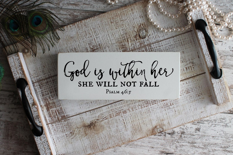God Is Within Her Psalm 46:5 Inspirational Womens Gift image 0