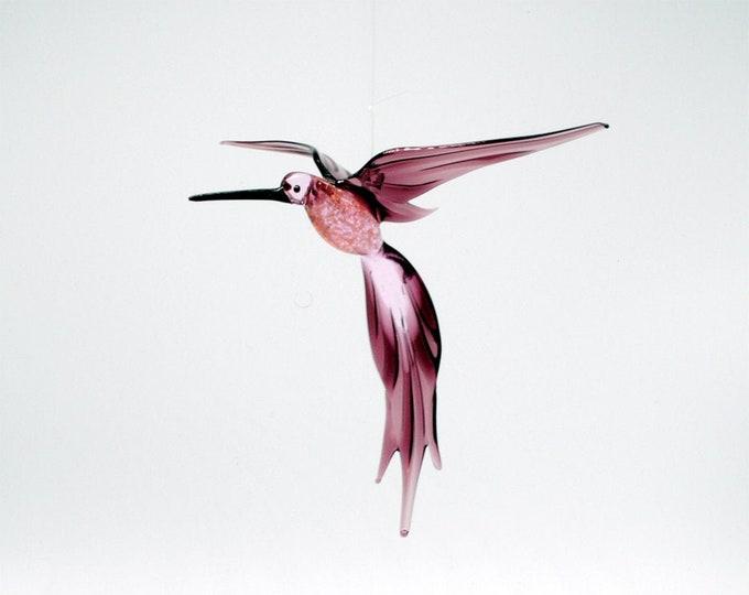 36-224 Aventurine Hummingbird Pink Purple