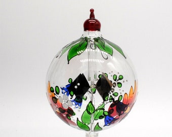 1039 Tabletop Radiometer Floral painted