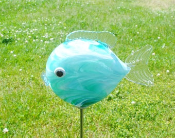 Small Fish Garden Sculpture -Jade