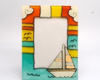 Fused glass Seashell