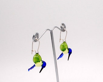 Glass Hummingbird Earrings