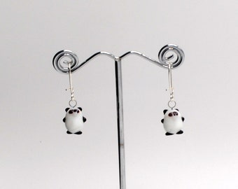 Miniature Panda Bear Earrings