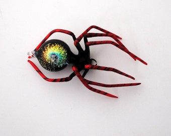 Medium Dichroic Spider with Galaxy and Skull in Abdomen