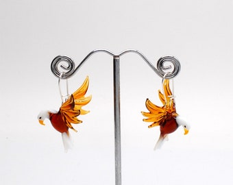 Glass Eagle Earrings