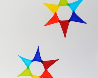 e50-04 Flat Fused Star Suncatcher