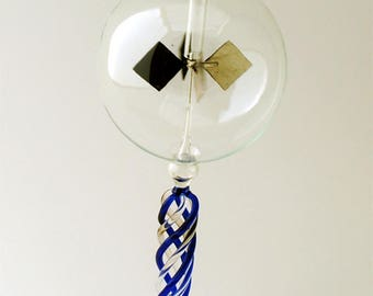Tabletop Radiometer Braided Blue