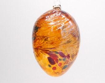 e00-69 Small Iridescent Gold Egg Suncatcher