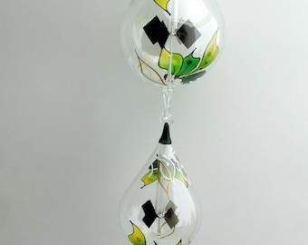 Two-Tier Hanging Radiometer Orchid painted