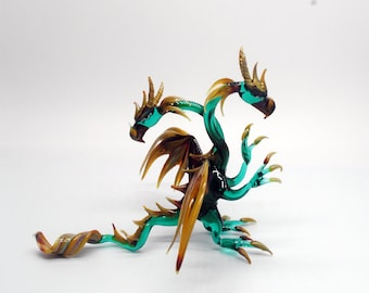33-995 Double Headed standing Dragon