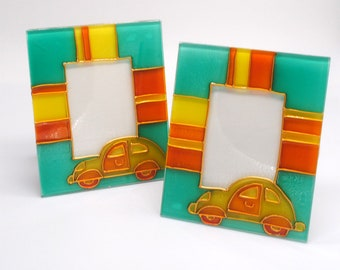 Fused glass Car Picture Frame