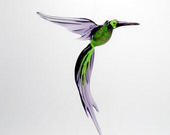 36-224 Aventurine Hummingbird Green Purple