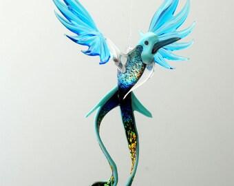 e36-701 Opaque Aqua Doctor bird with Dichroic