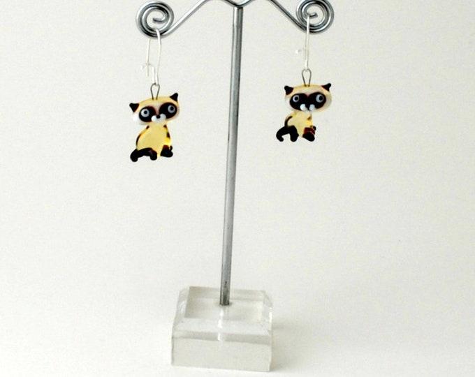 Miniature Siamese Cat Earrings (1 pair of earrings for price shown)