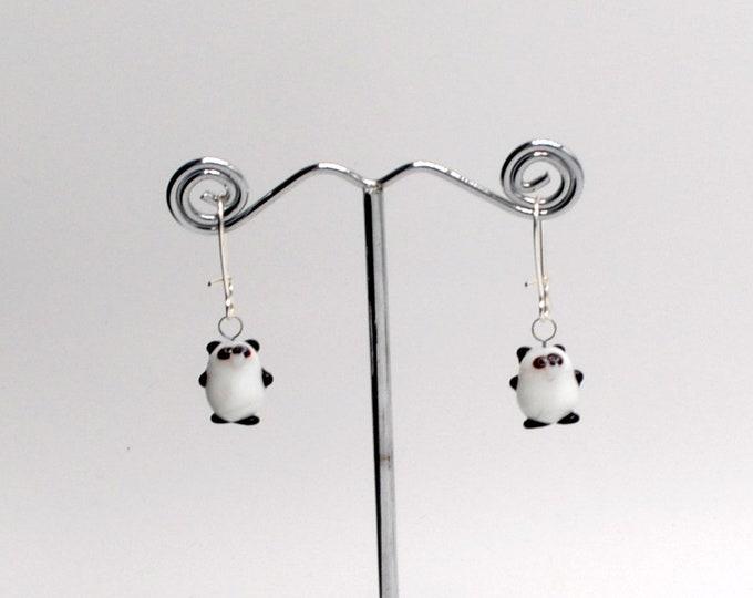 Miniature Panda Bear Earrings