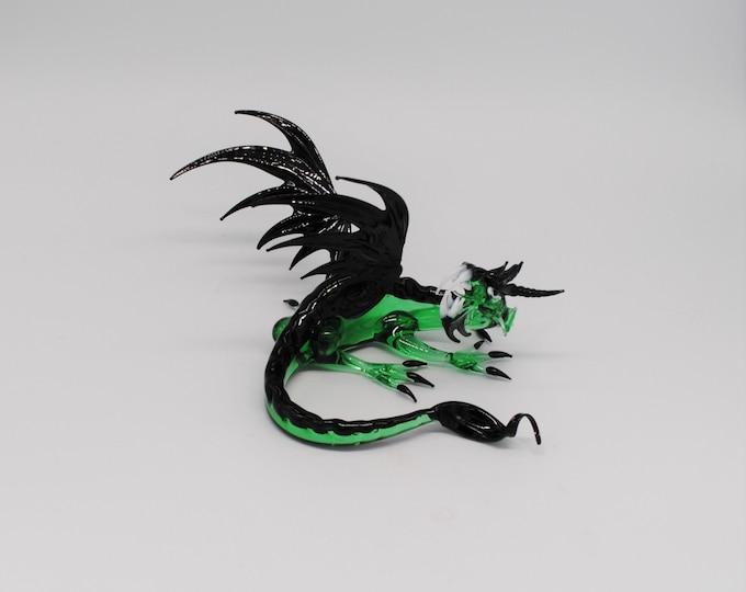 Laying Guardian Dragon - Green