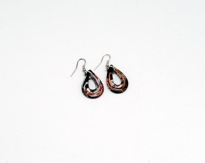 Marblelike Earring