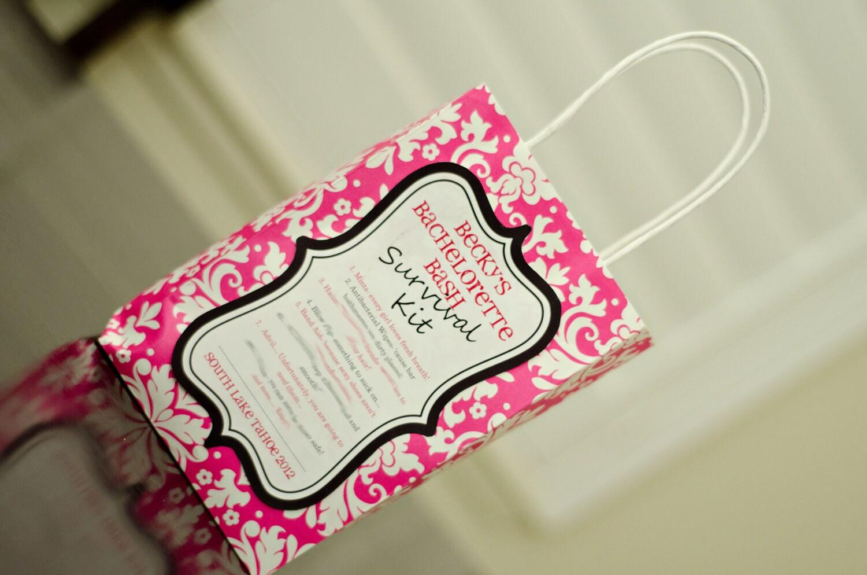 DIY Printable Bachelorette Party Survival Kit Label   Etsy