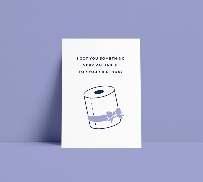 Funny  Birthday  Clean  Toilet Paper  Humor  Quarantine  image 0