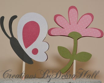 All Aflutter Handmade Cupcake Toppers
