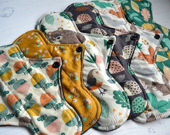 SPECIAL OFFER*** 6 Pad Cotton Woodland Bundle Reusable Menstrual Sanitary Pad - Cloth csp