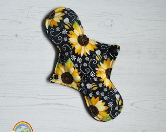 "10"" Heavy Pad - CSP - SunFlower - Cotton - Menstrual Cloth"