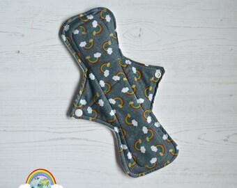 "ER Original - 11"" Night - Cotton - Grey Rainbow - CSP - Menstrual Cloth"