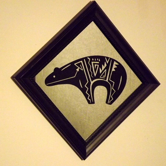 Items Similar To Native American Zuni Bear Symbol Reverse Etched On