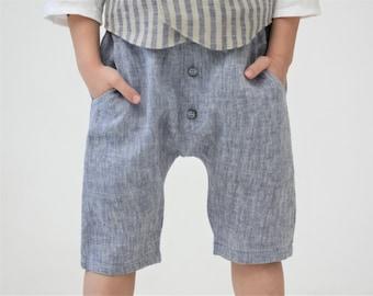 Boy harem shorts Toddler boy shorts Sarouel pants Linen shorts Ring bearer shorts Page boy outfit Boys clothes Family photo