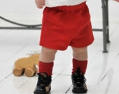 Baby boy short Toddler linen shorts Ring bearer shorts Baptism outfit 1st birthday outfit Baby red shorts Diaper cover