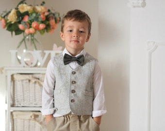 Ring Bearer Vest And Pants Boys Outfit Autumn Winter Wedding