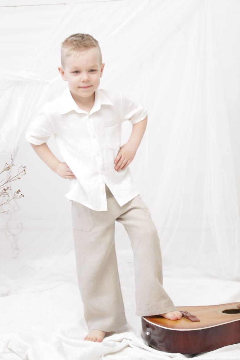 857fbddf9 Boys pants Natural linen long pants Toddler boy linen trousers | Etsy