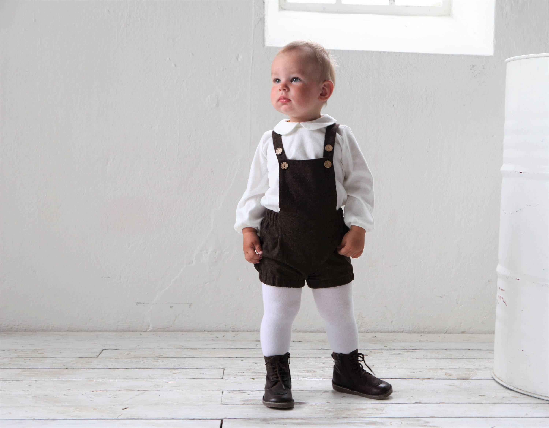 328f2a22d Baby boy romper Wool overall Baby boy wool shorts Baby boy