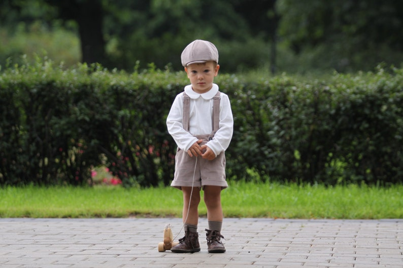 241802ebe Baby boy baptism outfit Ring bearer outfit Baby boy shorts   Etsy