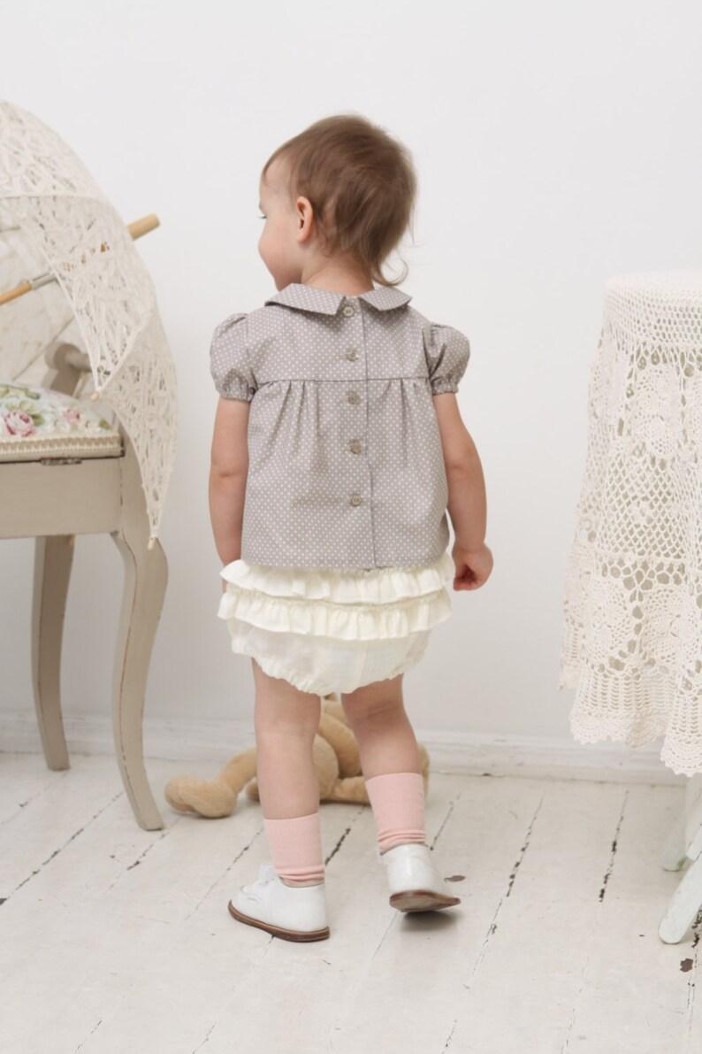 Baby girl bloomers Baby bloomers Baby ruffle bloomers Baby diaper cover Baby girl clothes Baby girl linen bloomers