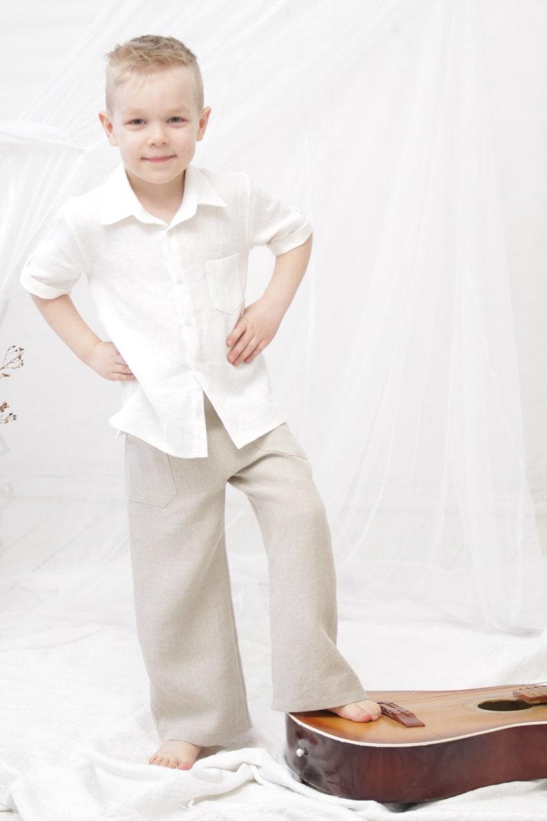 66c6523c Boys clothes Ring bearer shirt Boys dress shirt Rustic wedding | Etsy